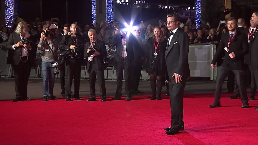 London, UK - October 19,2014: Brad Pitt at Fury UK Premiere, Odeon Leicester Square