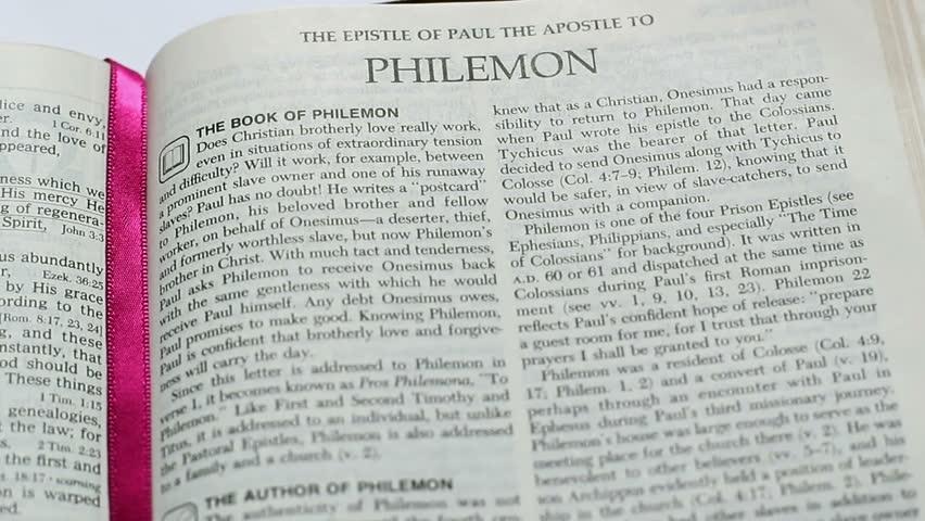 Header of Philemon