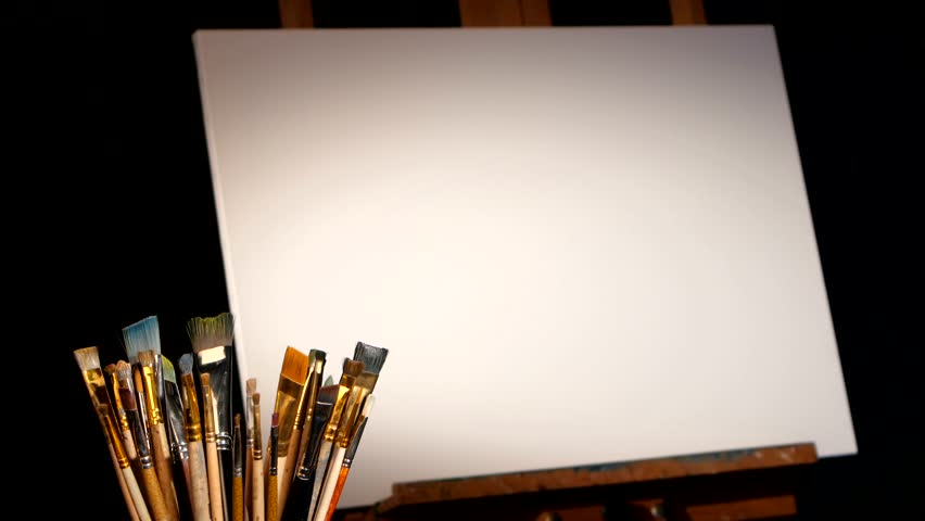some equipment for painting  rotation  stock footage video