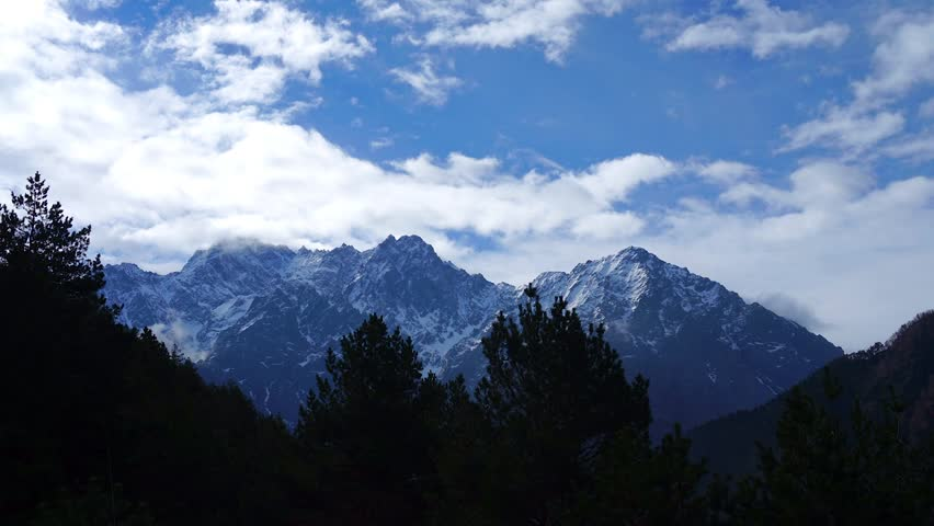 Time lapse video of  mountain in region of Himalayas   Shutterstock HD Video #9969812